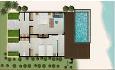 Floor plan beach villa suite