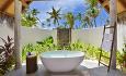 Beach Villaene har de nydelige åpne baderommene som Maldivene er så kjent for.
