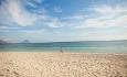 Sands ligger ved den flotte stranden Flic en Flac på vestkysten av Mauritius