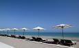 Hotellets nydelige strand