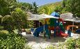 Lemuria har barneklubb med en flott lekeplass
