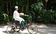 Sykkel er et mye brukt fremkomstmiddel på denne vakre øya