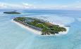 Selve øya Innahura er 600 x 200 meter og er omringet av en nydelige lagune