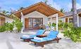 Alle de 78 rommene på Innahura er bungalower som ligger rett ved stranden.
