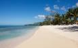 Den flotte stranden ved hotellet