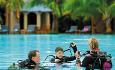 Le Victoria har dykkesenter og tilbyr ulike dykkerkurs