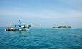 Det er en ca 30 minutters sjøflytur fra flyplassen i Male til Mirihi