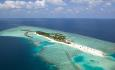 Selve øya Veligandu er 600 x 200 meter
