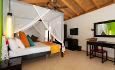Beach Villaene er 55 kvm og ligger på stranden med et nydelig utsikt utover lagunen.