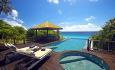"""Hotellrommene er """"Residences"""" som alle har privat infinity pool og boblebad"""