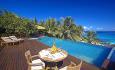 Du kan få alle måltider servert overalt på øya som f.eks her ved din egen Residence