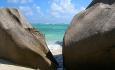 Den mye fotograferte stranden Anse Source D' argent finner du på øya La Digue